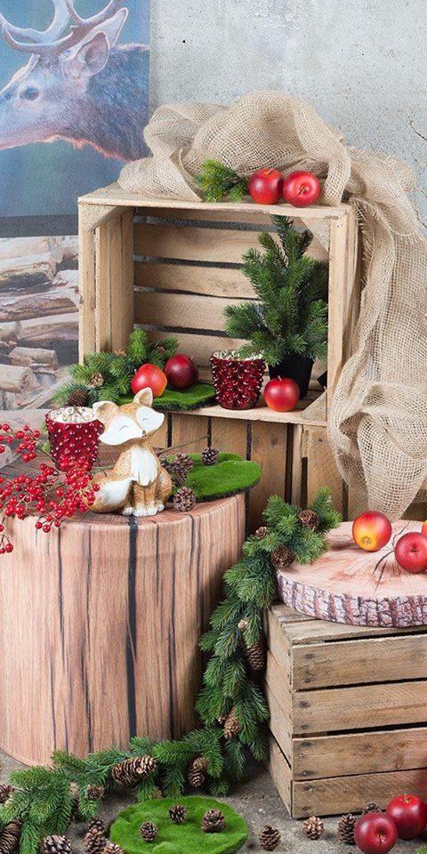 d coration de noel avec des caisses de fruits astuces bricolage. Black Bedroom Furniture Sets. Home Design Ideas