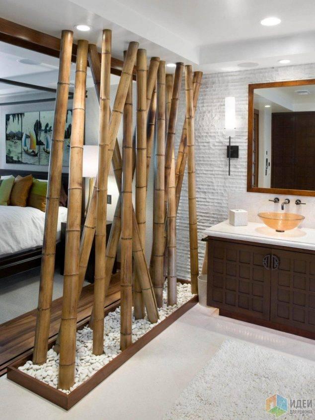 mur separation bambou