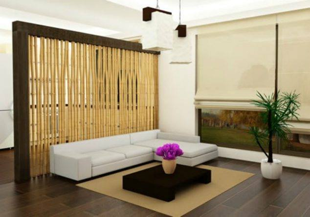 mur separation bambou salon