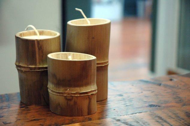 bougeoir bambou