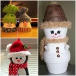 14 modèles de décoration de Noel crées avec des pots!