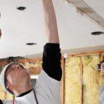 Création d'une isolation phonique du plafond