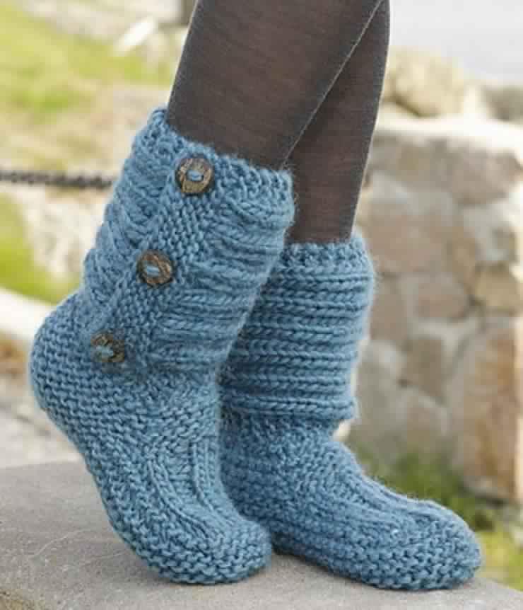 tricoter pantoufle