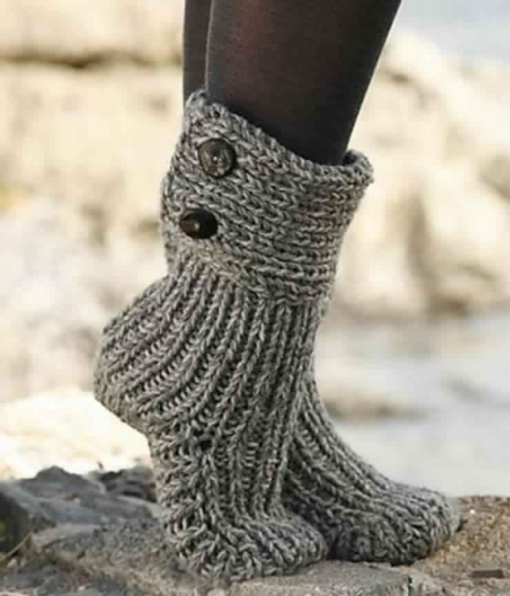 pantoufle en tricot