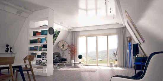 intérieur maison pliable