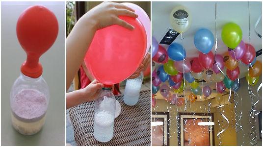 astuce gonfler ballon flottant