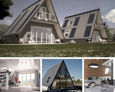 Maison pliable 28 000 euros maison pr fabriquees assembl en 8 heures - Maison pliable ...
