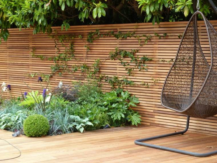 cloture jardin bois