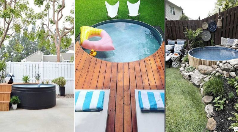 bricolage piscine avec abreuvoir betail