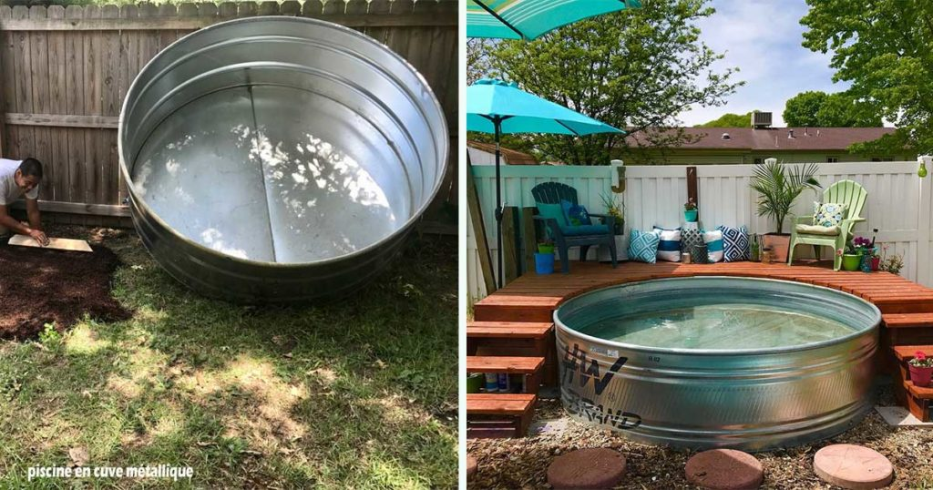 piscine bassine metallique