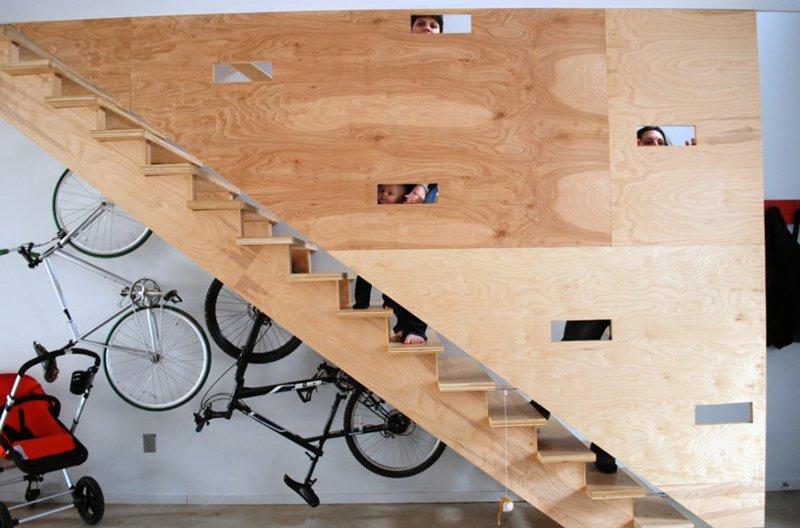 ranger vélo sous escalier