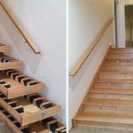 Rangements dans les marches des escaliers : cave à vin et d'autres idées