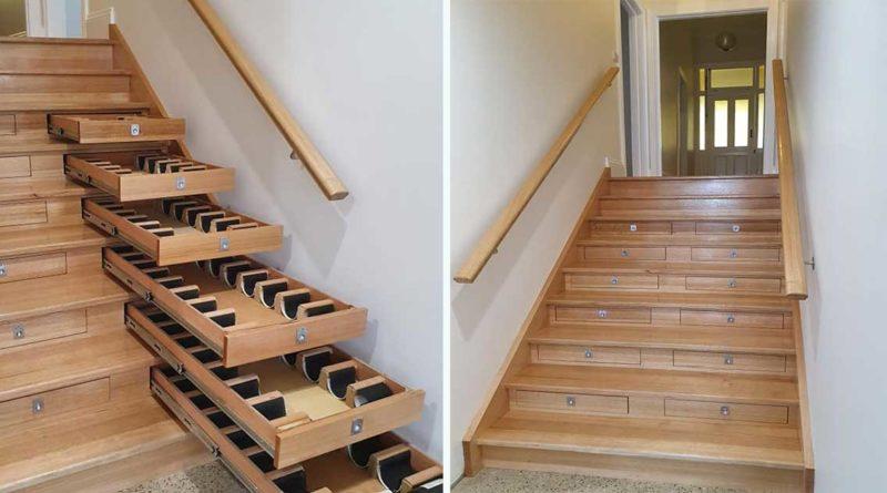 cave a vin escalier