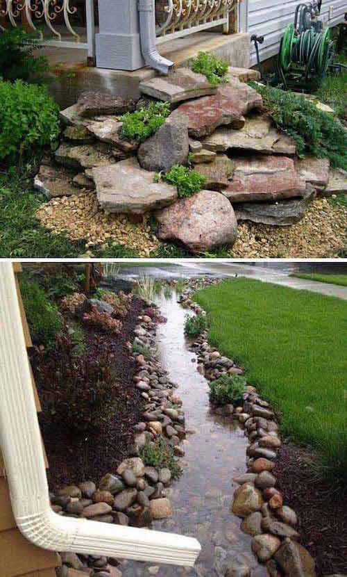descente pluviale jardin