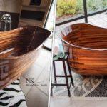 De très belles baignoires en bois conçues par un ex-constructeur de bateaux