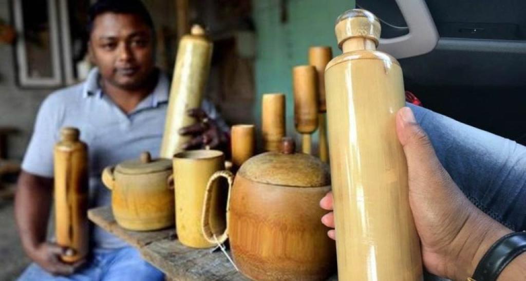 créateur bouteilles bambou