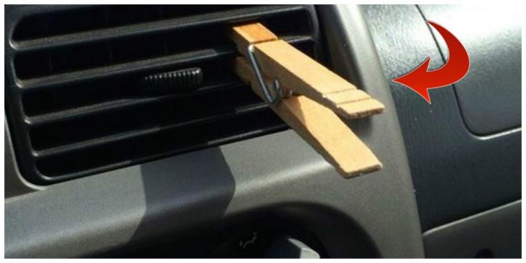 pincette bois aerateur voiture
