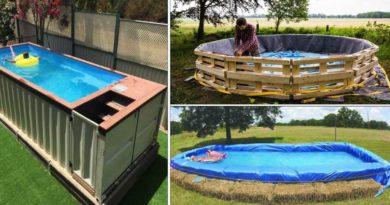 fabriquer piscine avec recup