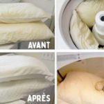 Découvrez la solution magique pour nettoyer et blanchir vos oreillers jaunis